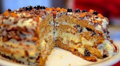 Торт Трухлявый пень» на кефире